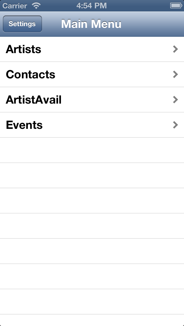 Book An Act/Artist on the Go with Apple App